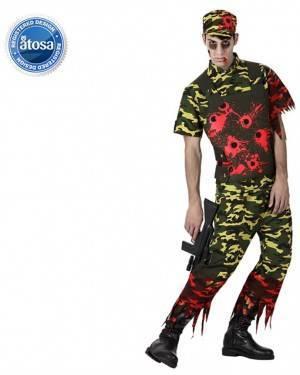 Fato Soldado Zombie Adulto
