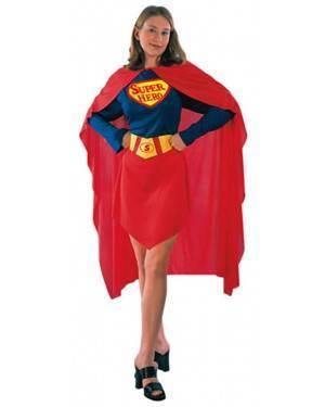 Fato Super Herói Mulher Adulto
