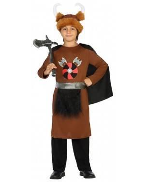 Fato Viking Marron Menino de 7-9 anos
