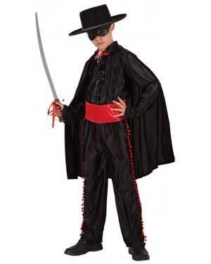 Fato Zorro Camisa Preta Menino