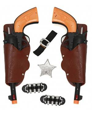 Kit 2 Pistolas Cowboy Adulto 30X12cm