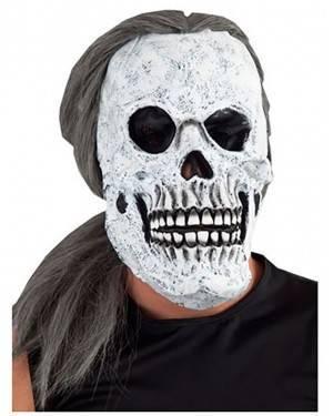 Máscara Crânio Cabelo Longo