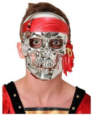 Máscara Crânio de Prata (3 Unidades)