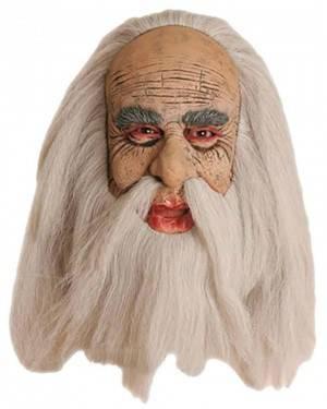 Máscara Velho com Cabelo e Bigode