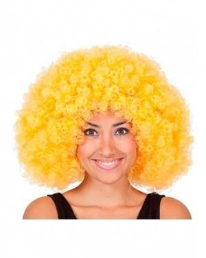 Peruca Mega Afro Amarela