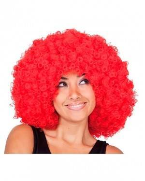 Peruca Mega Afro Vermelha