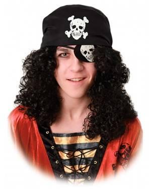Peruca Pirata com Pala e Lenço