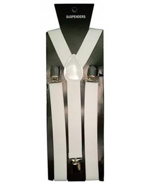 Suspensórios Elásticos Brancos 2 5X100cm