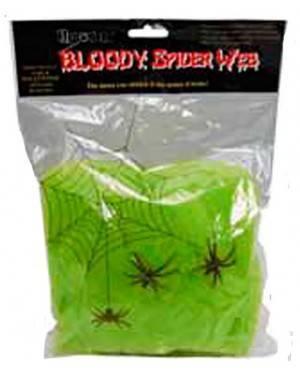 Teia Aranha Verde com 2 Arranhas (6 Bolsas de 20Gr )
