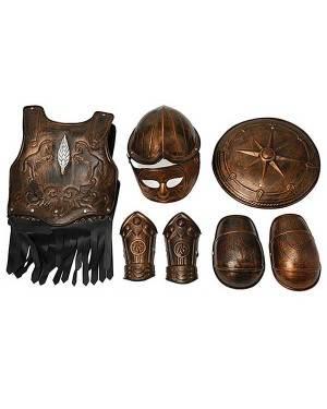 Armadura de Gladiador 7 Peças (Cobre-Prata) Loja de Fatos Carnaval, Disfarces Artigos para Festas Acessórios de Carnaval Mascaras Perucas 935 acasadocarnaval.pt