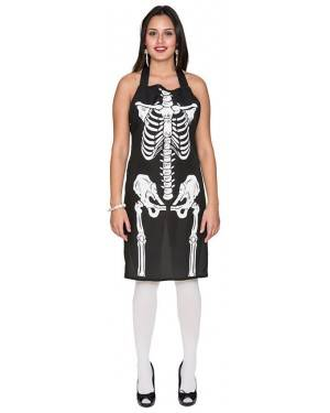 Avental Esqueleto Adulto M/L, Loja de Fatos Carnaval, Disfarces, Artigos para Festas, Acessórios de Carnaval, Mascaras, Perucas 801 acasadocarnaval.pt