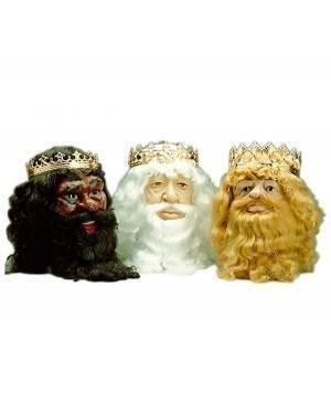 Barbas de Rei Branca, Loja de Fatos Carnaval, Disfarces, Artigos para Festas, Acessórios de Carnaval, Mascaras, Perucas, Chapeus 760 acasadocarnaval.pt
