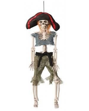 Esqueleto Pirata 42Cm , Loja de Fatos Carnaval, Disfarces, Artigos para Festas, Acessórios de Carnaval, Mascaras, Perucas, Chapeus 803 acasadocarnaval.pt