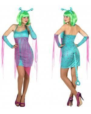 Fato Alien Azul Sexy Adulto, Loja de Fatos Carnaval, Disfarces, Artigos para Festas, Acessórios de Carnaval, Mascaras, Perucas 626 acasadocarnaval.pt
