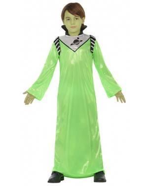 Fato Alien Verde Criança de 7-9 anos, Loja de Fatos Carnaval, Disfarces, Artigos para Festas, Acessórios de Carnaval, Mascaras, Perucas 217 acasadocarnaval.pt
