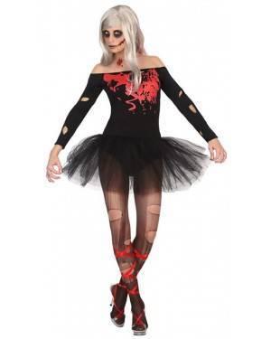 Fato Bailarina Zombie Mulher Adulto M/L, Loja de Fatos Carnaval, Disfarces, Artigos para Festas, Acessórios de Carnaval, Mascaras, Perucas 91 acasadocarnaval.pt