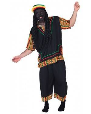 Fato Bob Marley-Rasta Adulto, Loja de Fatos Carnaval, Disfarces, Artigos para Festas, Acessórios de Carnaval, Mascaras, Perucas 590 acasadocarnaval.pt