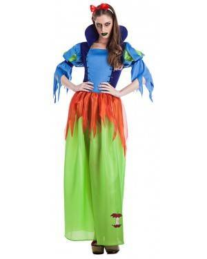 Fato Branca Neve Zombie para Carnaval ou Halloween 5923 - A Casa do Carnaval.pt