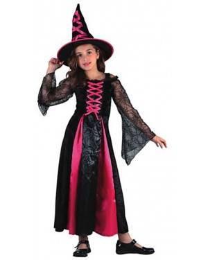 Fato Bruxa Rosa Menina  70601, Loja de Fatos Carnaval acasadocarnaval.pt, Disfarces, Acessórios de Carnaval, Mascaras, Perucas, Chapeus e Fantasias