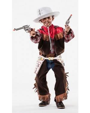 Fato Cowboy Criança 5-7 Anos para Carnaval o Halloween 92084 | A Casa do Carnaval.pt