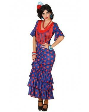 Fato de Flamenga Azul Adulto para Carnaval o Halloween | A Casa do Carnaval.pt