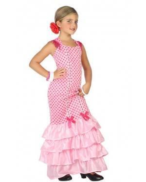 Fato de Flamenga Rosa Infantil para Carnaval o Halloween | A Casa do Carnaval.pt
