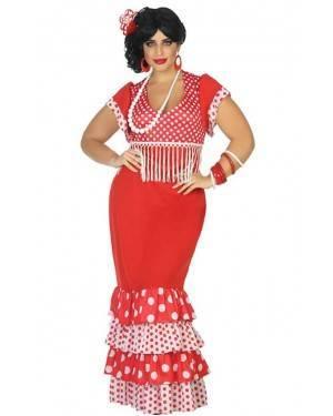 Fato de Flamenga Vermelho Adulta XL para Carnaval o Halloween | A Casa do Carnaval.pt