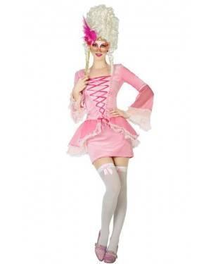 Fato de Mulher Cortesã Rosa para Carnaval o Halloween | A Casa do Carnaval.pt