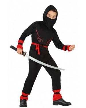 Fato de Ninja Vermelho Infantil para Carnaval o Halloween   A Casa do Carnaval.pt