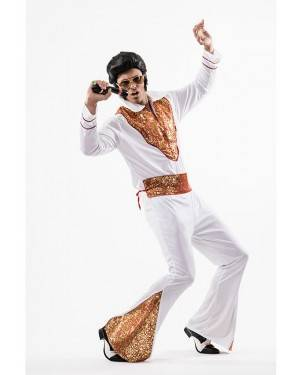 Fato Elvis, o Rei do Pop Tamanho M/L para Carnaval o Halloween 91939 | A Casa do Carnaval.pt