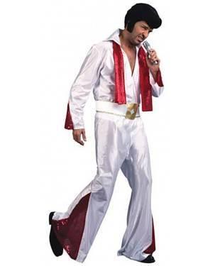Fato Elvis Rei do Rock Adulto, Loja de Fatos Carnaval, Disfarces, Artigos para Festas, Acessórios de Carnaval, Mascaras, Perucas 945 acasadocarnaval.pt