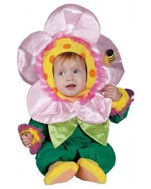 Fato Flor Criança Bebé para Carnaval e Festas