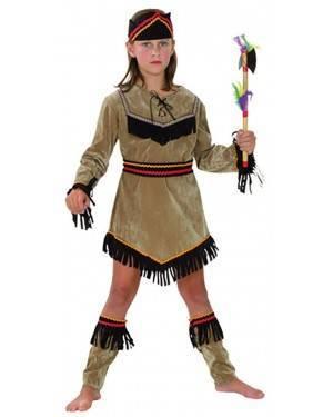Fato Guerreira Indiana Menina 70608, Loja de Fatos Carnaval acasadocarnaval.pt, Disfarces, Acessórios de Carnaval, Mascaras, Perucas, Chapeus