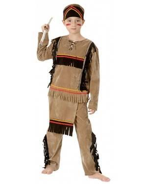 Fato Guerreiro Indiano Menino 70608, Loja de Fatos Carnaval acasadocarnaval.pt, Disfarces, Acessórios de Carnaval, Mascaras, Perucas, Chapeus