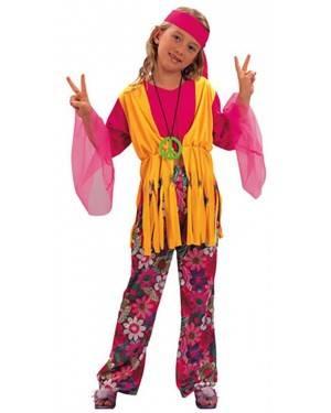 Fato Hippie Menina 70135, Loja de Fatos Carnaval acasadocarnaval.pt, Disfarces, Acessórios de Carnaval, Mascaras, Perucas, Chapeus e Fantasias
