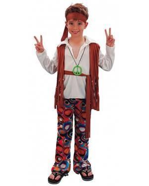 Fato Hippie Menino 70137, Loja de Fatos Carnaval acasadocarnaval.pt, Disfarces, Acessórios de Carnaval, Mascaras, Perucas, Chapeus e Fantasias