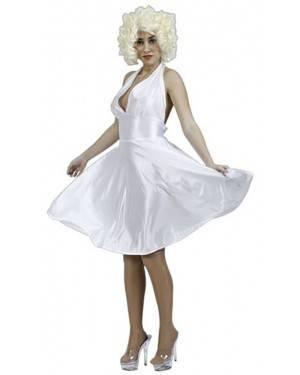 Fato Marilyn Adulto, Loja de Fatos Carnaval, Disfarces, Artigos para Festas, Acessórios de Carnaval, Mascaras, Perucas, Chapeus 657 acasadocarnaval.pt
