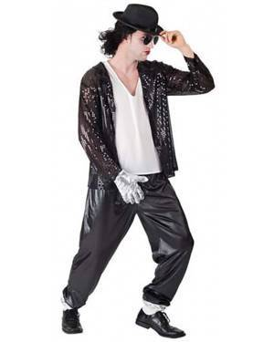 Fato Michael Jackson Rei do Pop Adulto para Carnaval e Festas