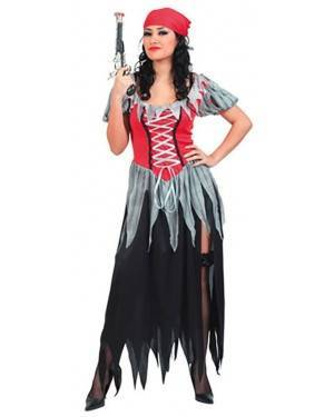 Fato Mulher Pirata Adulto para Carnaval e Festas