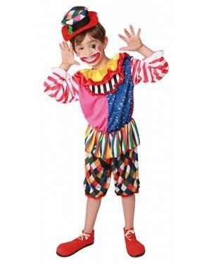 Fato Palhaço Cores Menino 70608, Loja de Fatos Carnaval acasadocarnaval.pt, Disfarces, Acessórios de Carnaval, Mascaras, Perucas, Chapeus e Fantasias