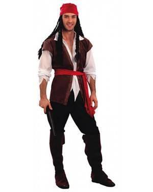 Fato Pirata do Caribe Homem Adulto  70195, Loja de Fatos Carnaval acasadocarnaval.pt, Disfarces, Acessórios de Carnaval, Mascaras, Perucas, Chapeus