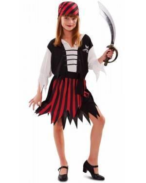 Fato Pirata Riscas Menina 70118, Loja de Fatos Carnaval acasadocarnaval.pt, Disfarces, Acessórios de Carnaval, Mascaras, Perucas, Chapeus e Fantasias