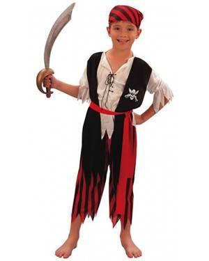 Fato Pirata Riscas Menino 70124, Loja de Fatos Carnaval acasadocarnaval.pt, Disfarces, Acessórios de Carnaval, Mascaras, Perucas, Chapeus e Fantasias