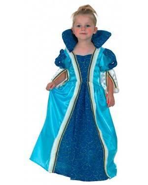 Fato Princesa Azul Criança, Loja de Fatos Carnaval, Disfarces, Artigos para Festas, Acessórios de Carnaval, Mascaras, Perucas, Chapeus 623 acasadocarnaval.pt