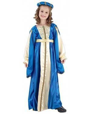 Fato Princesa Azul Menina 70604, Loja de Fatos Carnaval acasadocarnaval.pt, Disfarces, Acessórios de Carnaval, Mascaras, Perucas, Chapeus e Fantasias