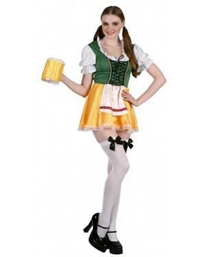 Fato Tirolêsa com Cerveja Adulto, Loja de Fatos Carnaval, Disfarces, Artigos para Festas, Acessórios de Carnaval, Mascaras, Perucas 901 acasadocarnaval.pt