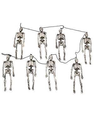 Grinalda Esqueletos 8 Partes 143Cm , Loja de Fatos Carnaval, Disfarces, Artigos para Festas, Acessórios de Carnaval, Mascaras, Perucas 507 acasadocarnaval.pt