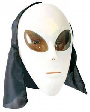 Máscara Alien Fosforescente para Carnaval e Festas