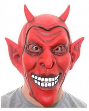 Máscara Demônio Sorrindo, Loja de Fatos Carnaval, Disfarces, Artigos para Festas, Acessórios de Carnaval, Mascaras, Perucas, Chapeus 968 acasadocarnaval.pt