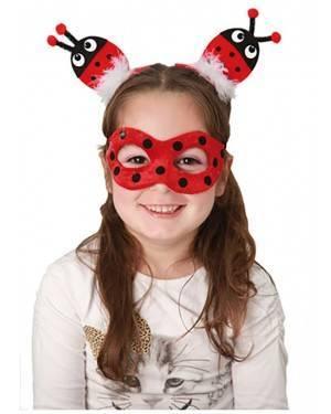 Máscara Joaninha com Clipes de Cabelo, Loja de Fatos Carnaval, Disfarces, Artigos para Festas, Acessórios de Carnaval, Mascaras, Perucas 956 acasadocarnaval.pt